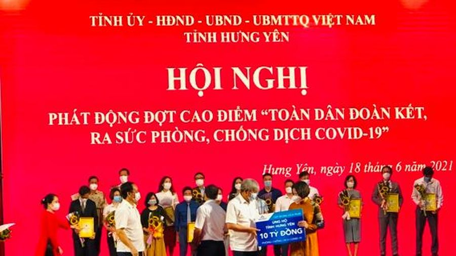 Hòa Phát ủng hộ tỉnh Hưng Yên 10 tỷ đồng phòng chống dịch Covid-19