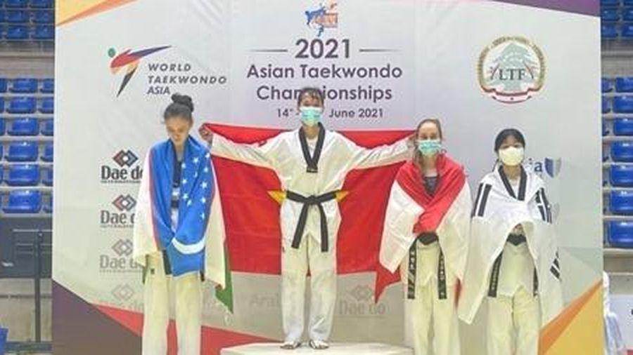 Taekwondo Việt Nam giành vàng tại giải vô địch châu Á 2021