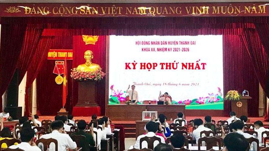 Huyện Thanh Oai: Bầu các chức danh HĐND, UBND huyện nhiệm kỳ 2021-2026