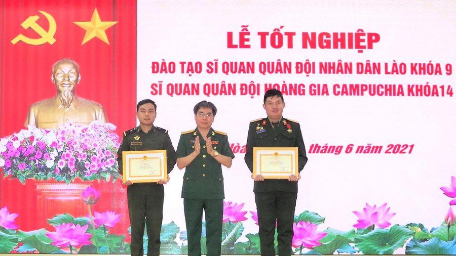 17 sĩ quan Lào và Campuchia tốt nghiệp chuyên ngành thông tin
