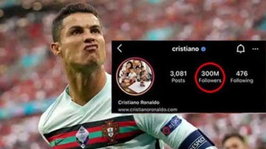 Hậu sự cố Coca Cola, Ronaldo lập kỷ lục trên mạng xã hội