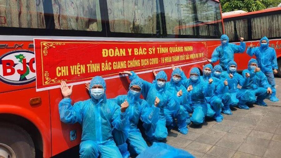Bệnh viện Việt Nam - Thụy Điển Uông Bí hoàn thành nhiệm vụ chi viện cho Bắc Giang