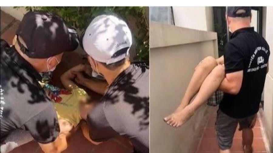 Một cháu bé bị gãy tay do rơi từ tầng 5 chung cư