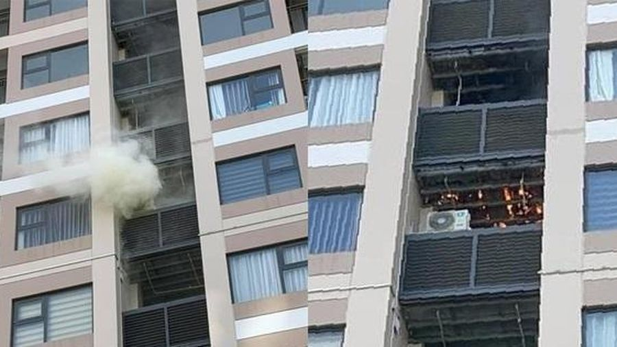 Cháy chung cư cao cấp Hà Nội giữa nắng nóng gay gắt
