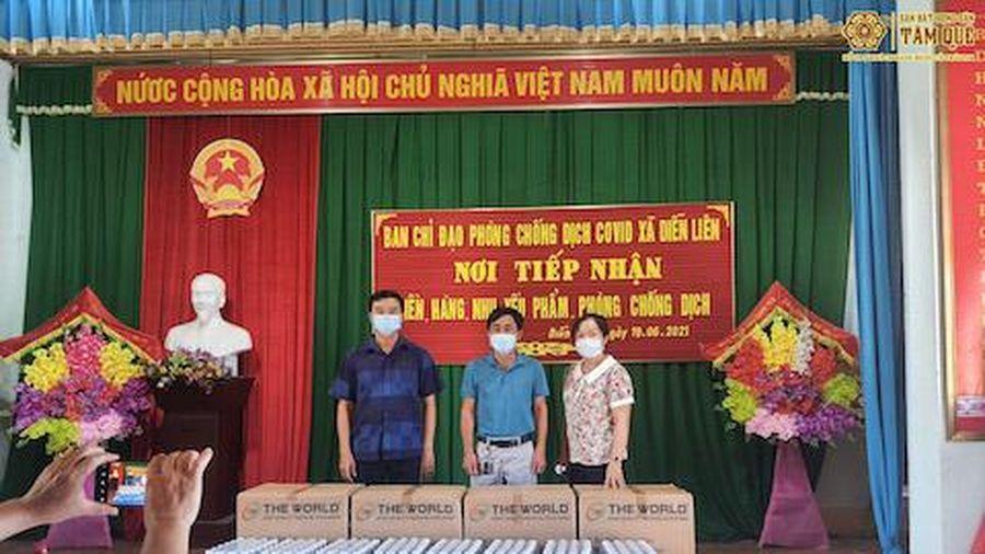 Sàn bất động sản Tâm Quê ủng hộ khẩu trang, nước uống cho bà con huyện Diễn Châu