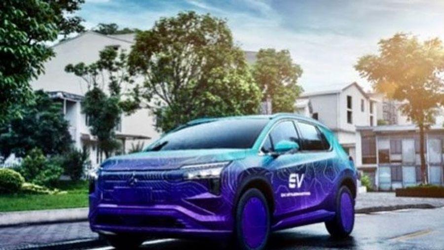 Hé lộ hình ảnh xe điện của Mitsubishi trước ngày ra mắt