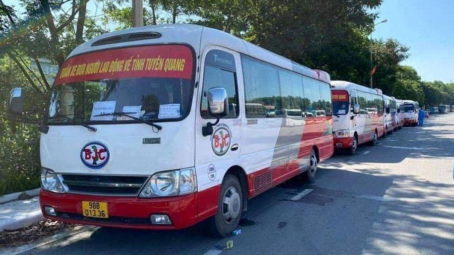 9 tỉnh, thành phố cơ bản hoàn thành đón công nhân từ Bắc Giang về địa phương