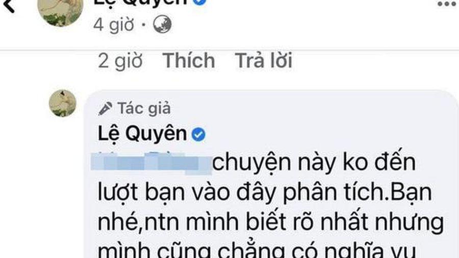 Lệ Quyên đáp trả 'cực gắt' khi anti-fan đưa con trai vào chuyện giữa cô và 'tình trẻ'