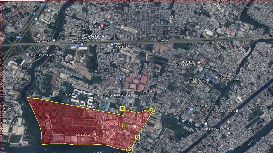 Quận 8 đề xuất giãn cách theo Chỉ thị 16 một Khu phố, có cảng Phú Định