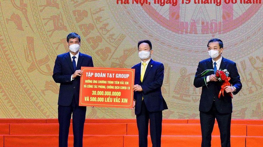 T&T Group ủng hộ 30 tỷ đồng cho chương trình tiêm vaccine phòng Covid-19 của Hà Nội