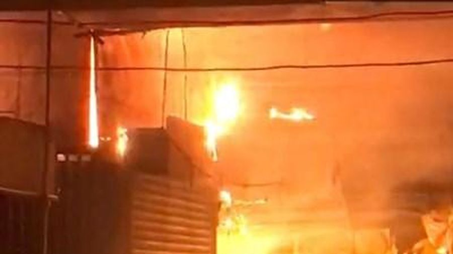 Hậu Giang: Cháy chợ thị xã Long Mỹ