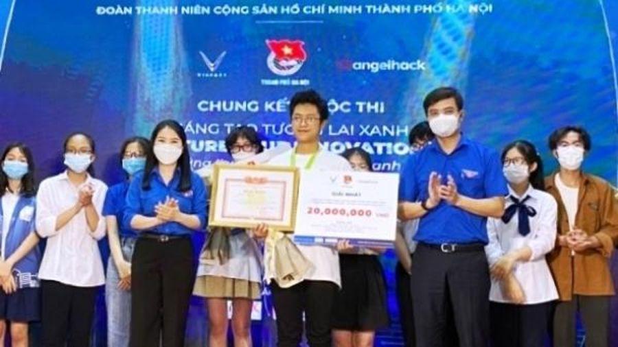 Học sinh trường THPT chuyên Hà Nội - Amsterdam giành giải Nhất cuộc thi 'Sáng tạo tương lai xanh'