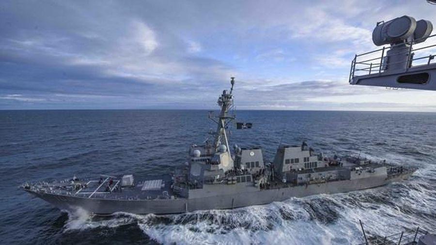 Hải quân Mỹ tiến hành thử nghiệm va chạm với chiến hạm mới