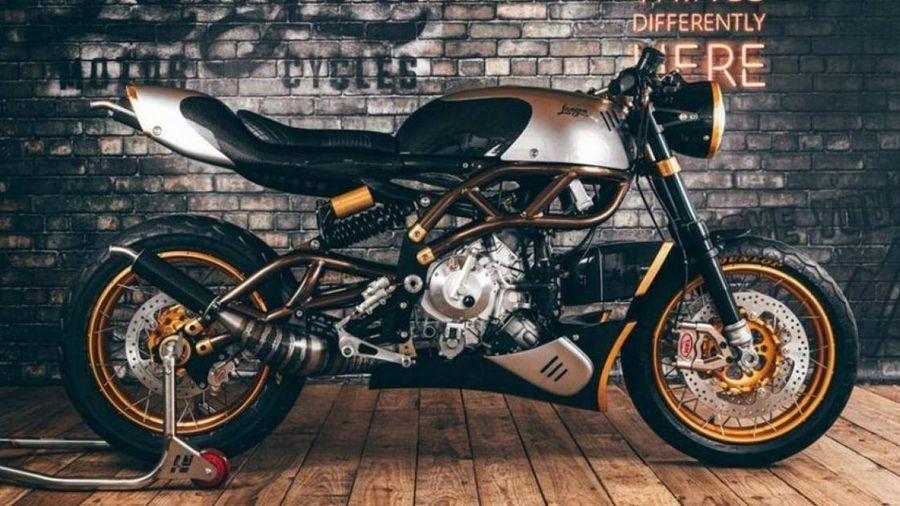 Chiêm ngưỡng xe mô tô Cafe Racer được dát vàng