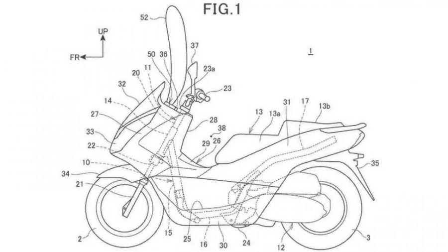 Honda sắp trang bị túi khí rèm trên xe tay ga PCX