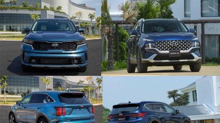 SUV 7 chỗ tầm giá trên 1 tỷ đồng, nên mua Kia Sorento All New hay Hyundai SantaFe 2021?