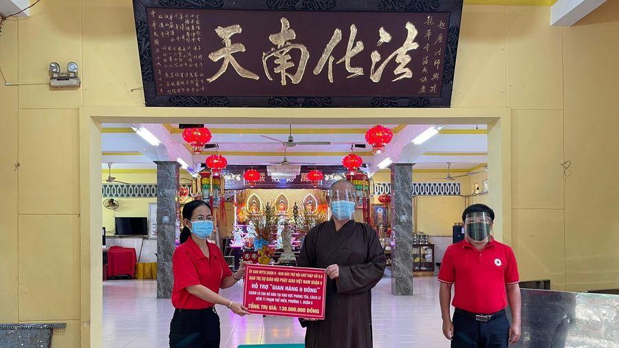Ban Trị sự Phật giáo quận 8 hỗ trợ gian hàng 0 đồng tại khu cách ly