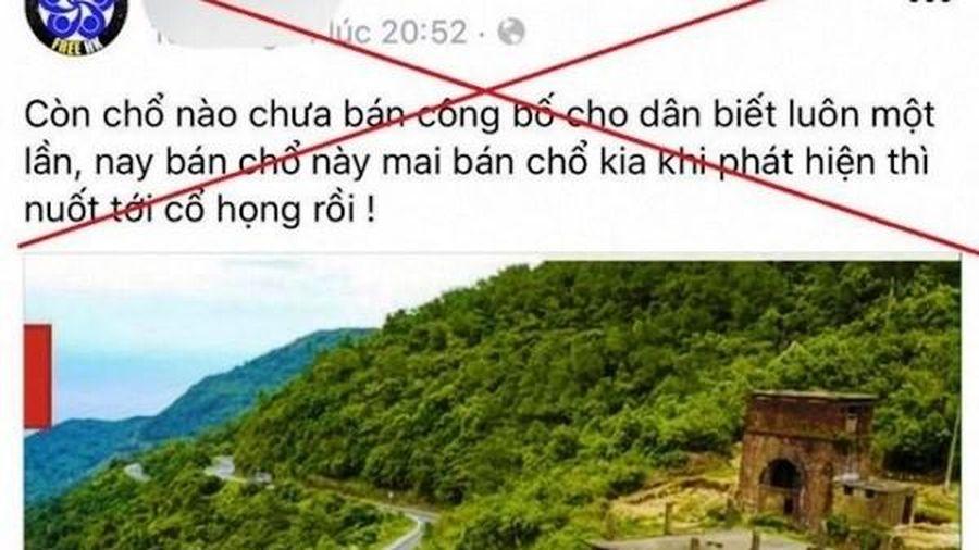 Thừa Thiên - Huế sẽ xử nghiêm kẻ tung tin đồn thất thiệt trên Facebook