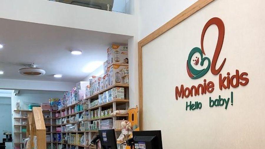 Monnie Kids: Bán hàng không xuất hóa đơn, không tem nhãn phụ