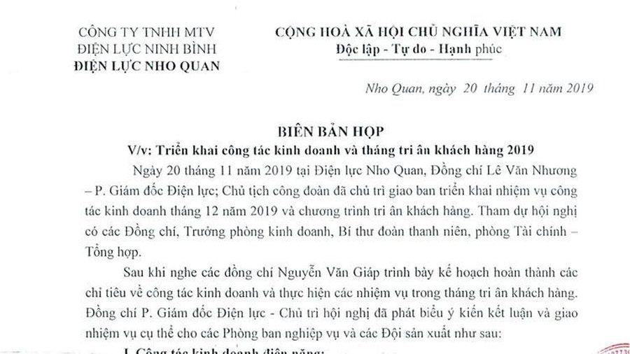 Ninh Bình: Năm 2019 tiền điện của một hộ dân tăng do dây dẫn bị dò, ngành điện làm phúc, bị 'hồi tố'