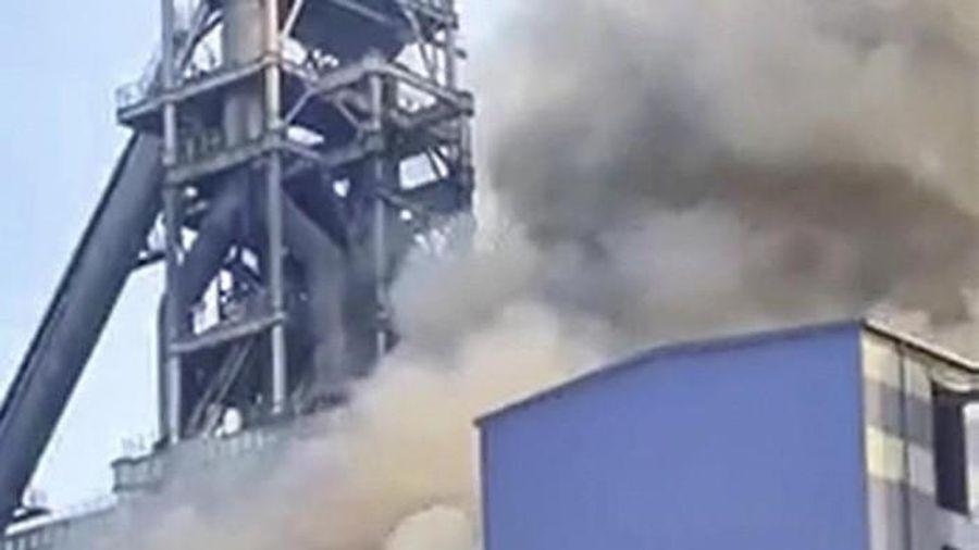 Xảy ra sự cố cháy tại trí lò cao số 1, thép Hòa Phát Dung Quất