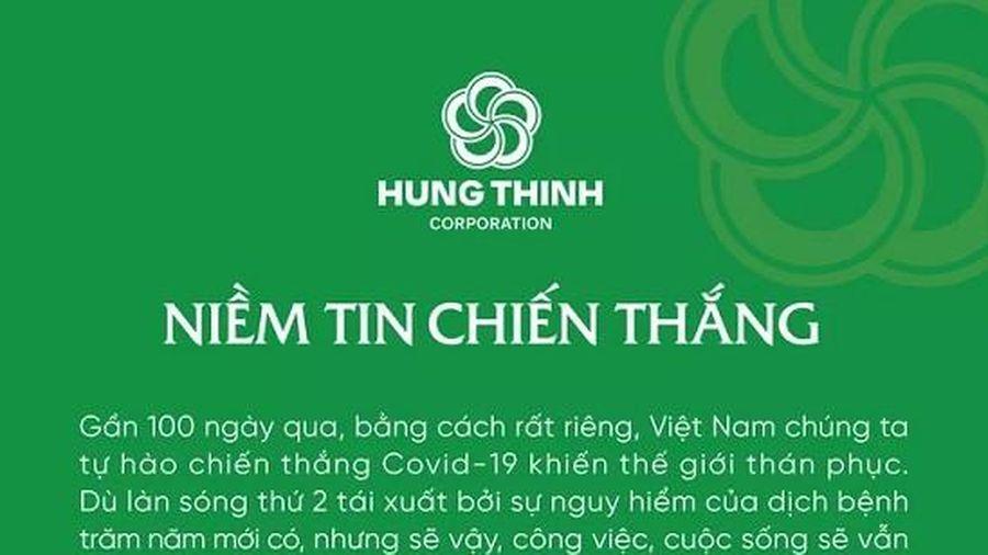 Tập đoàn bất động sản Hưng Thịnh ủng hộ 20 tỷ chống COVID-19