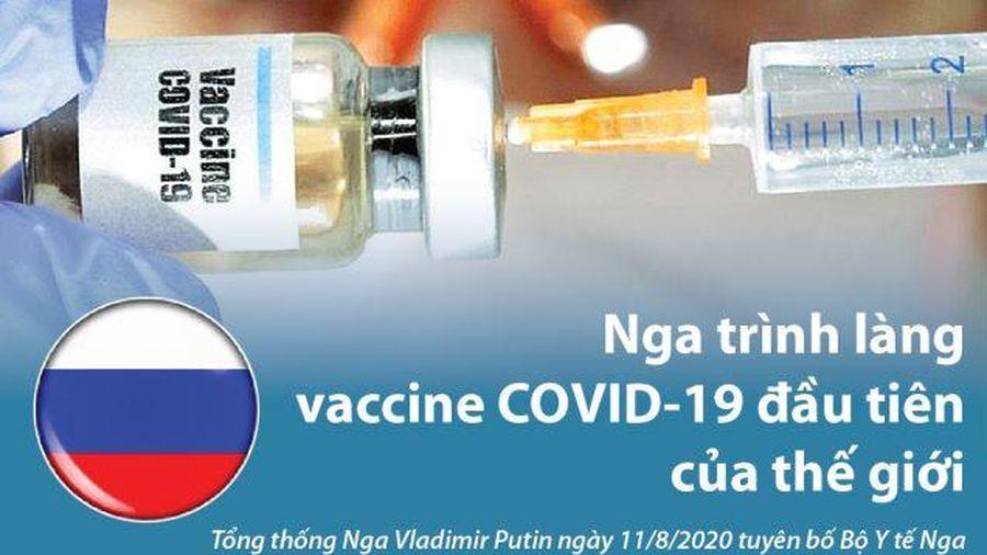 Nga 'trình làng' vaccine COVID-19 đầu tiên trên thế giới