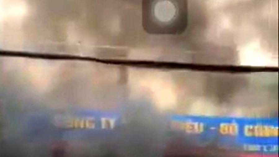 Hải Phòng: Cháy lớn tại cây xăng dầu trên đường Lạch Tray