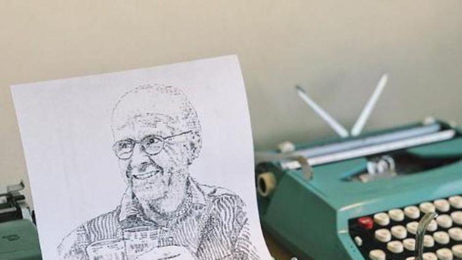 Dùng máy đánh chữ để vẽ tranh chân dung ở Ấn Độ