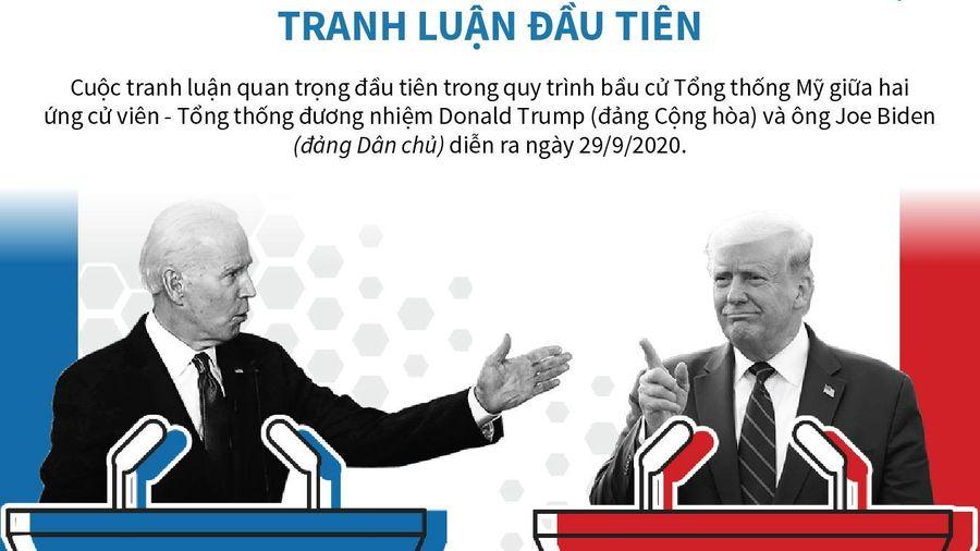 Hai ứng viên tổng thống Mỹ bước vào cuộc tranh luận đầu tiên