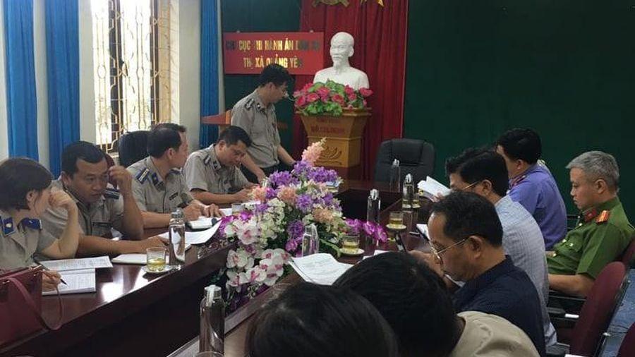 Quảng Ninh: Giám sát công tác THADS, hành chính tại thị xã Quảng Yên
