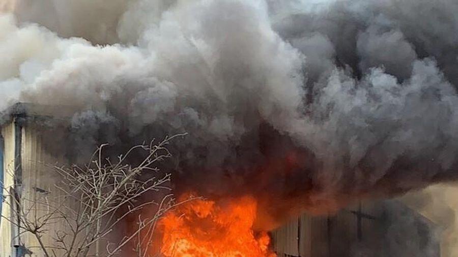 Vụ cháy khu xưởng gỗ ở huyện Thạch Thất: 8 cơ sở chịu thiệt hại!